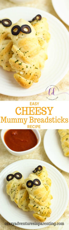 Easy Cheesy Mummy Breadsticks Recipe