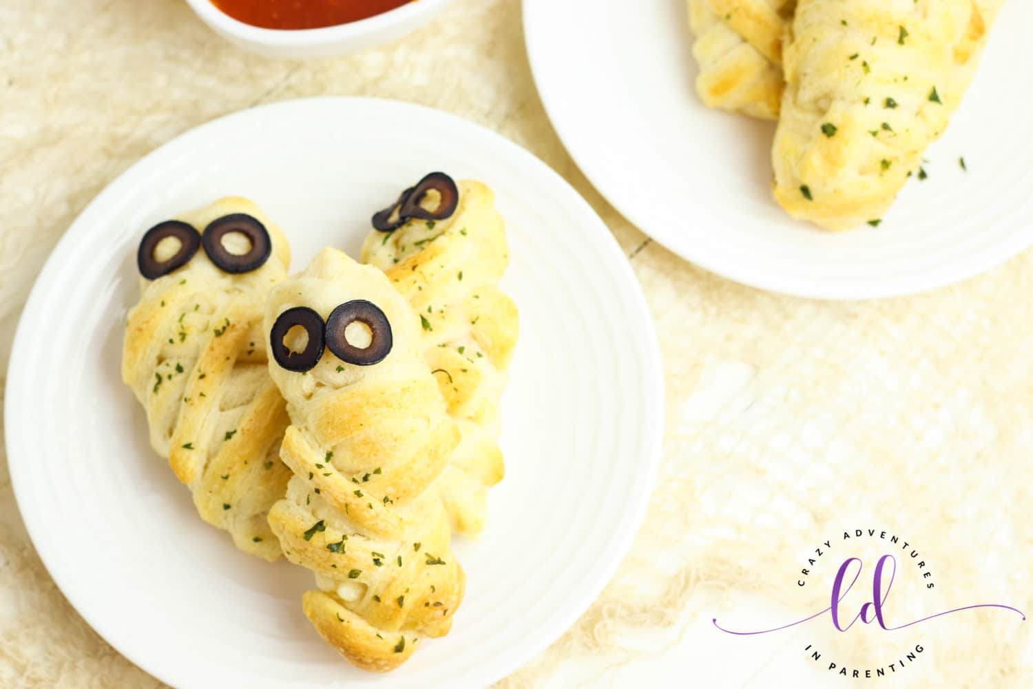 Easy Cheesy Mummy Breadsticks for Halloween