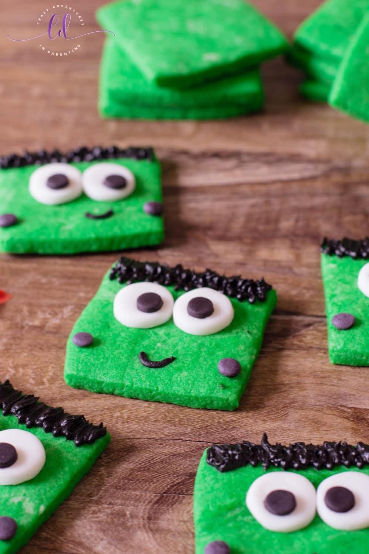 Frankenstein Cookies Recipe for Halloween