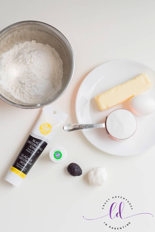 Ingredients to Make Frankenstein Cookies