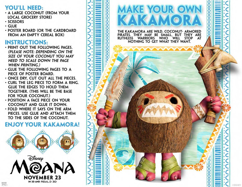 Moana Make Your Own Kakamora Activity Sheet