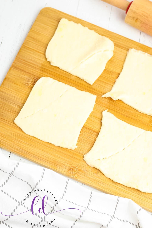 Prepare Crescent Roll Dough for Cheesy Mummy Breadsticks