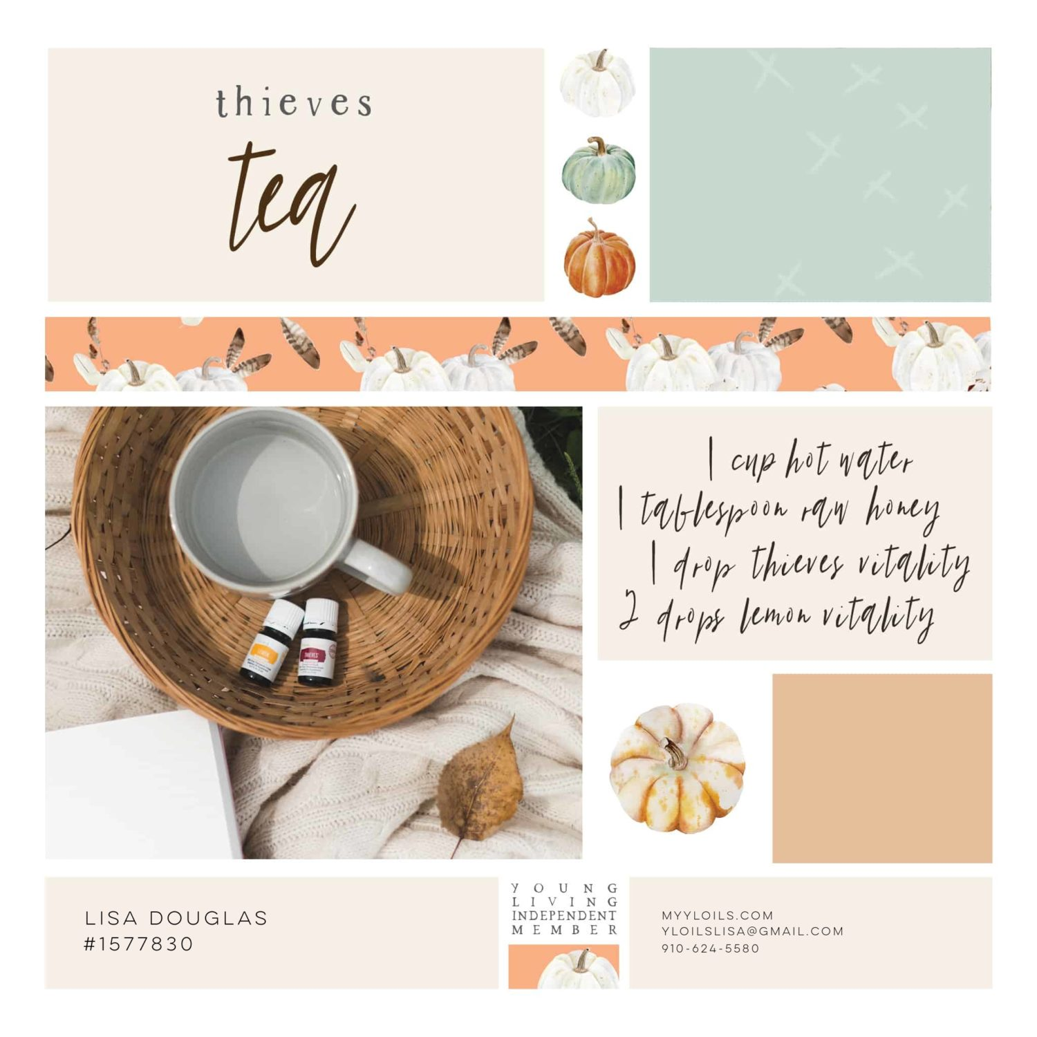 DIY Thieves Tea Young Living Fall Diffuser Recipe
