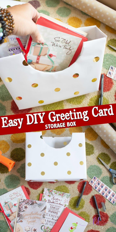 Easy DIY Greeting Card Storage Box