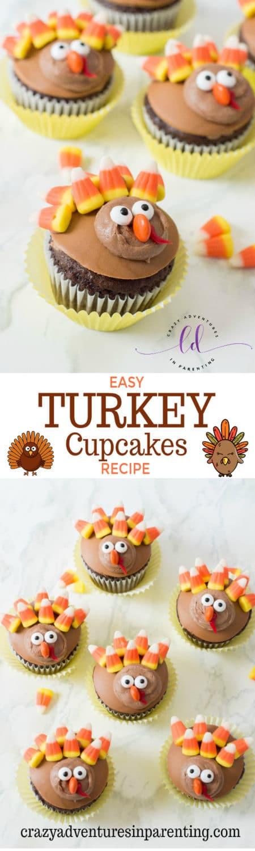 Easy Turkey Cupcakes Recipe