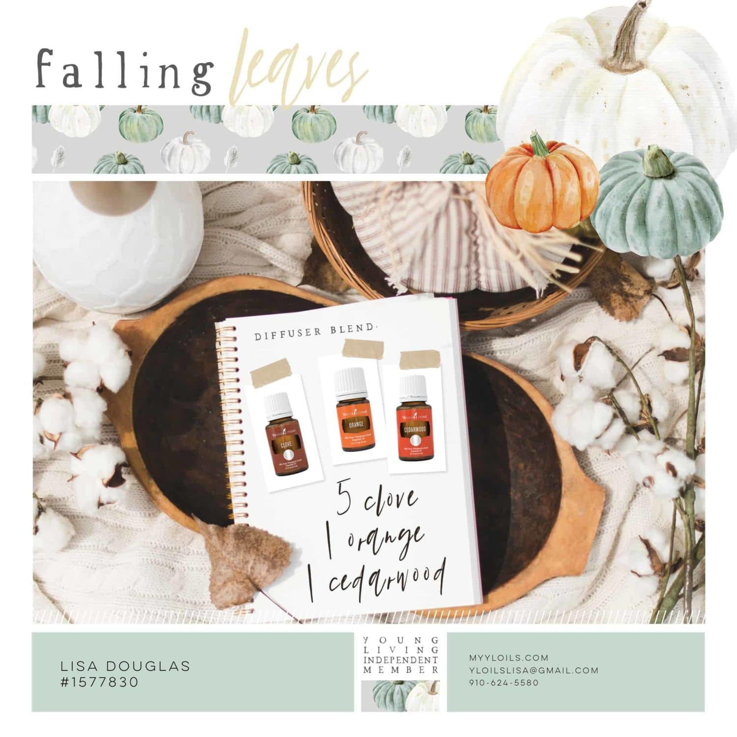 Falling Leaves Young Living Fall Diffuser Recipe