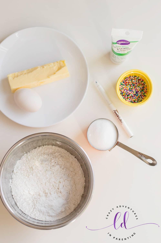 Ingredients to Make Christmas Tree Cookies