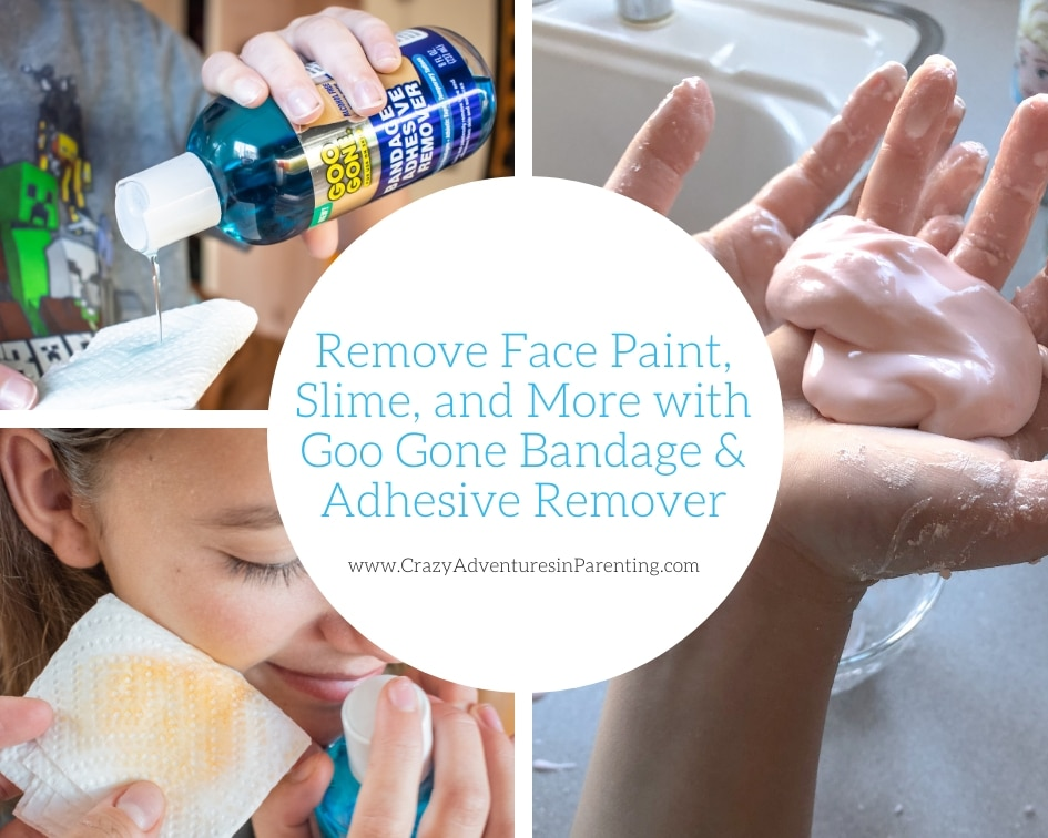 Remove Face Paint, Slime, and More with Goo Gone Bandage and Adhesive Remover