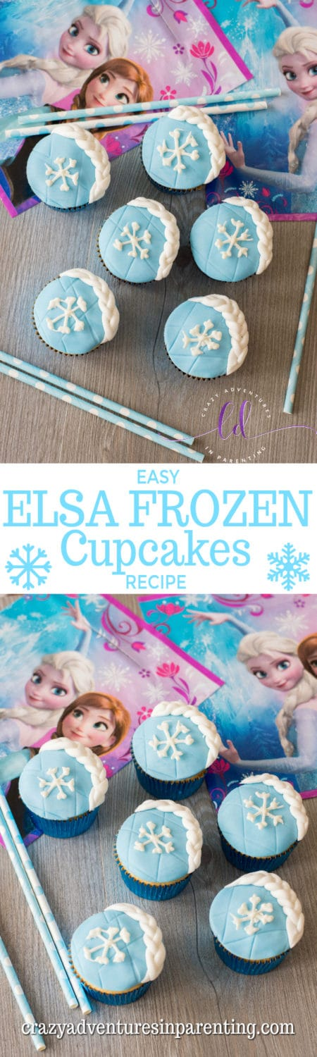 Easy Elsa Frozen Cupcakes Recipe