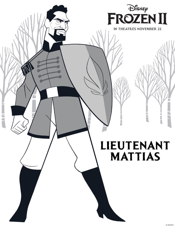 Frozen 2 Lieutenant Mattias Coloring Page
