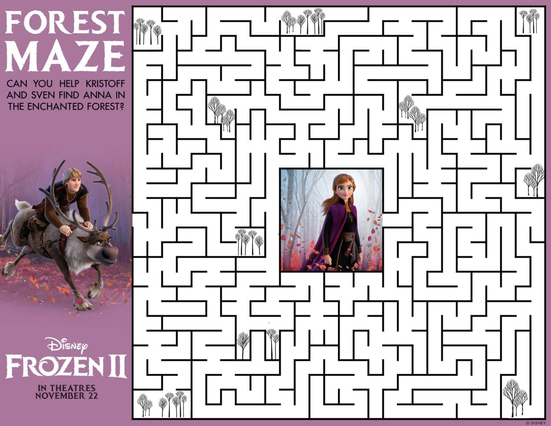 Frozen 2 Maze Activity Sheet
