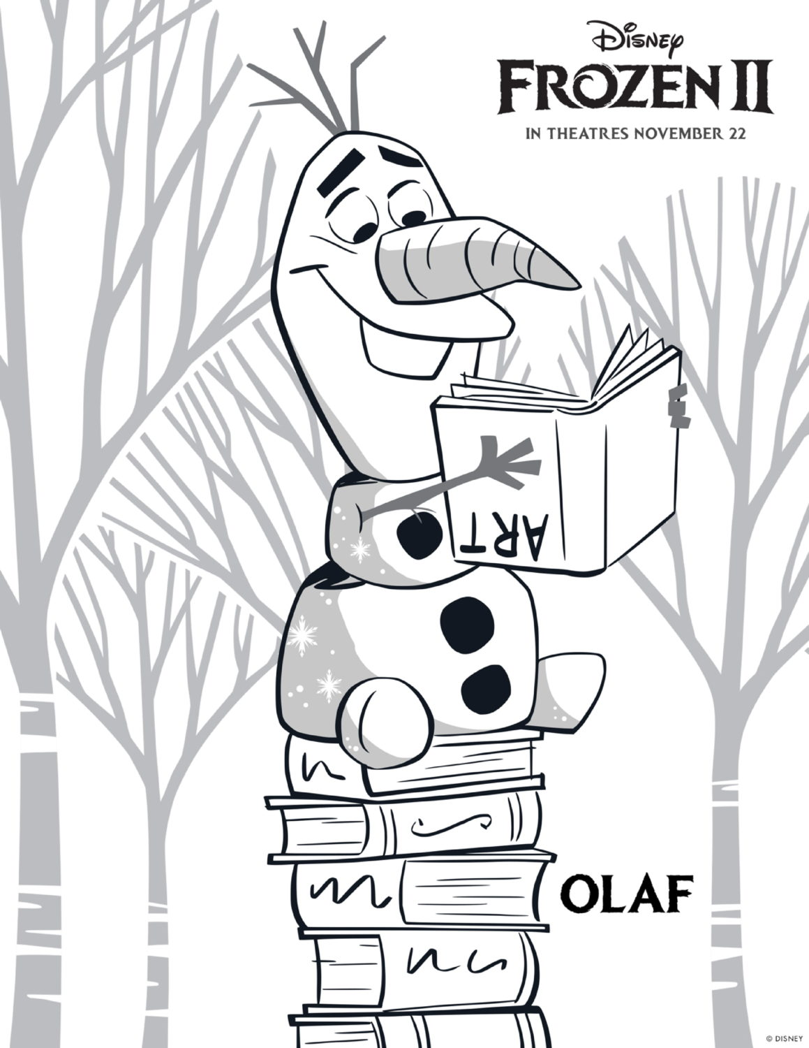 Frozen 2 Olaf Coloring Page