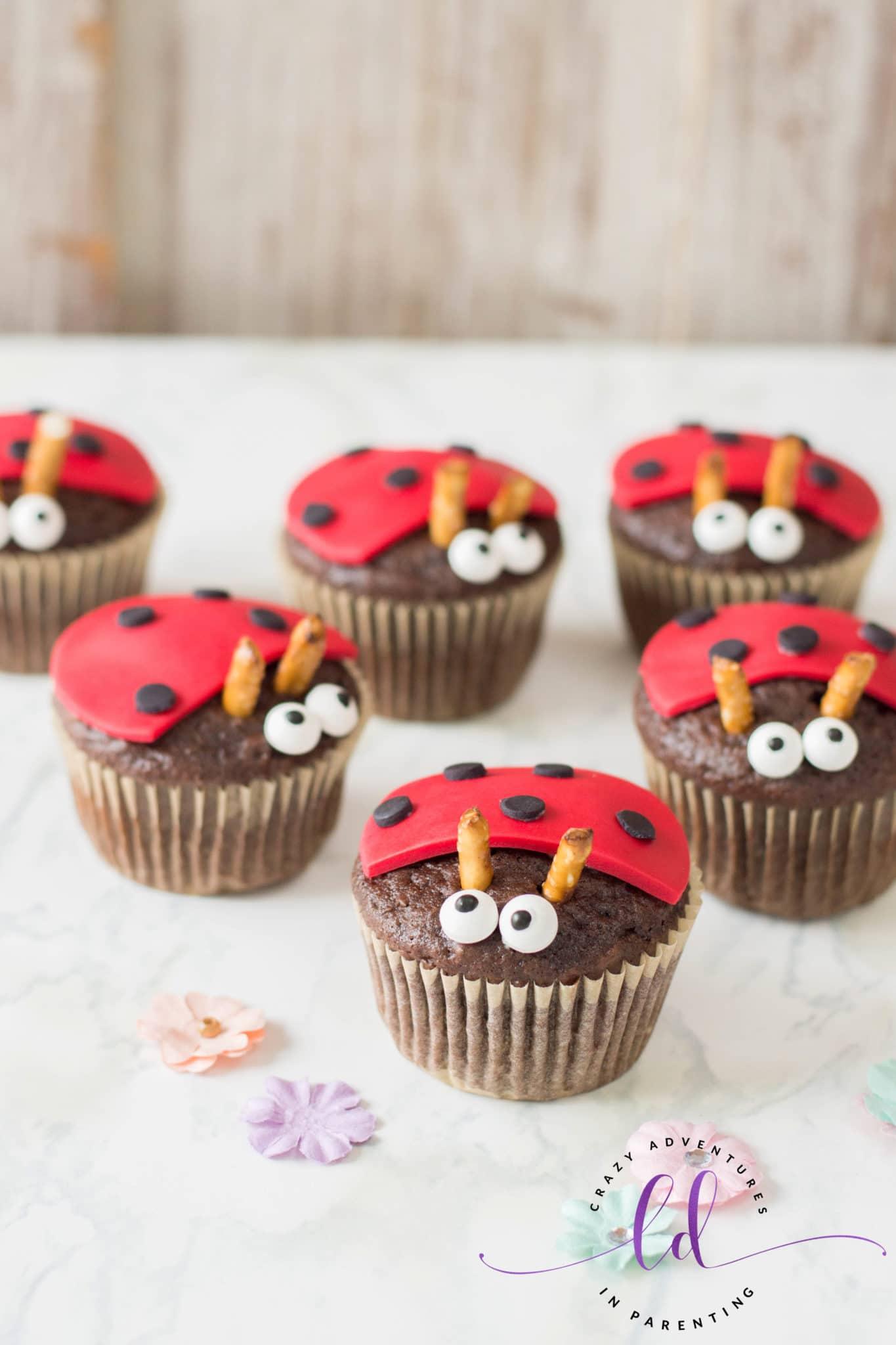 Cute Ladybug Lovebug Cupcakes
