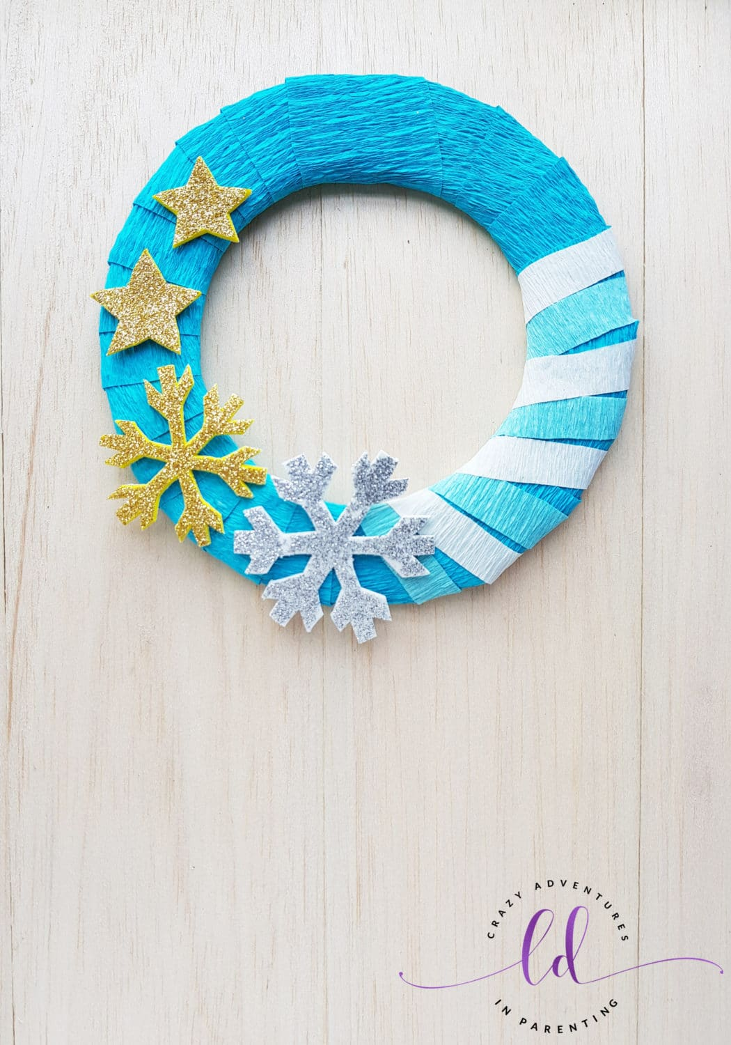 Easy Frozen Wreath Craft Tutorial for Birthday Parties