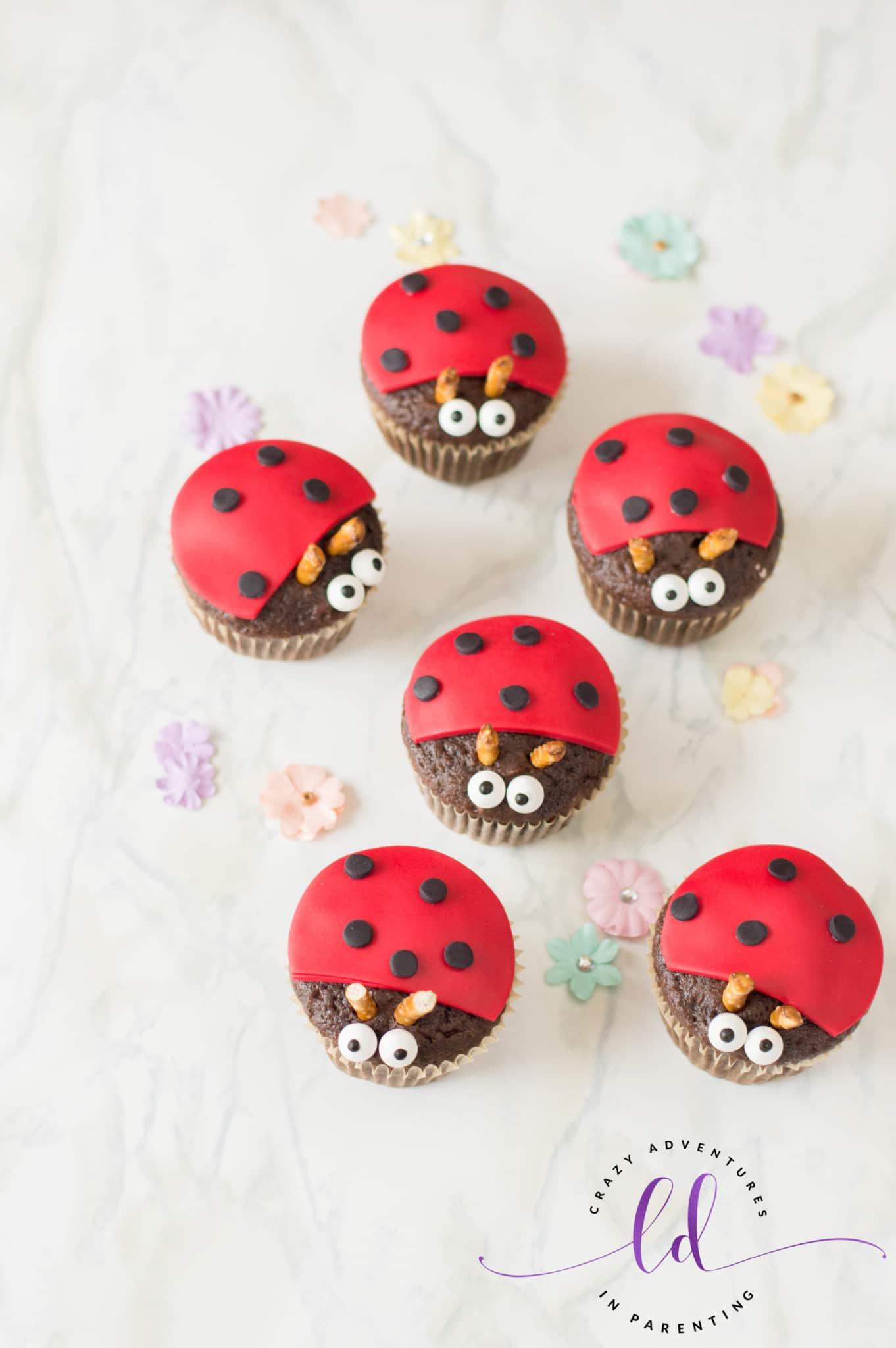 Easy Ladybug Lovebug Cupcakes Recipe