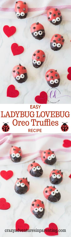 Easy Ladybug Lovebug Oreo Truffles