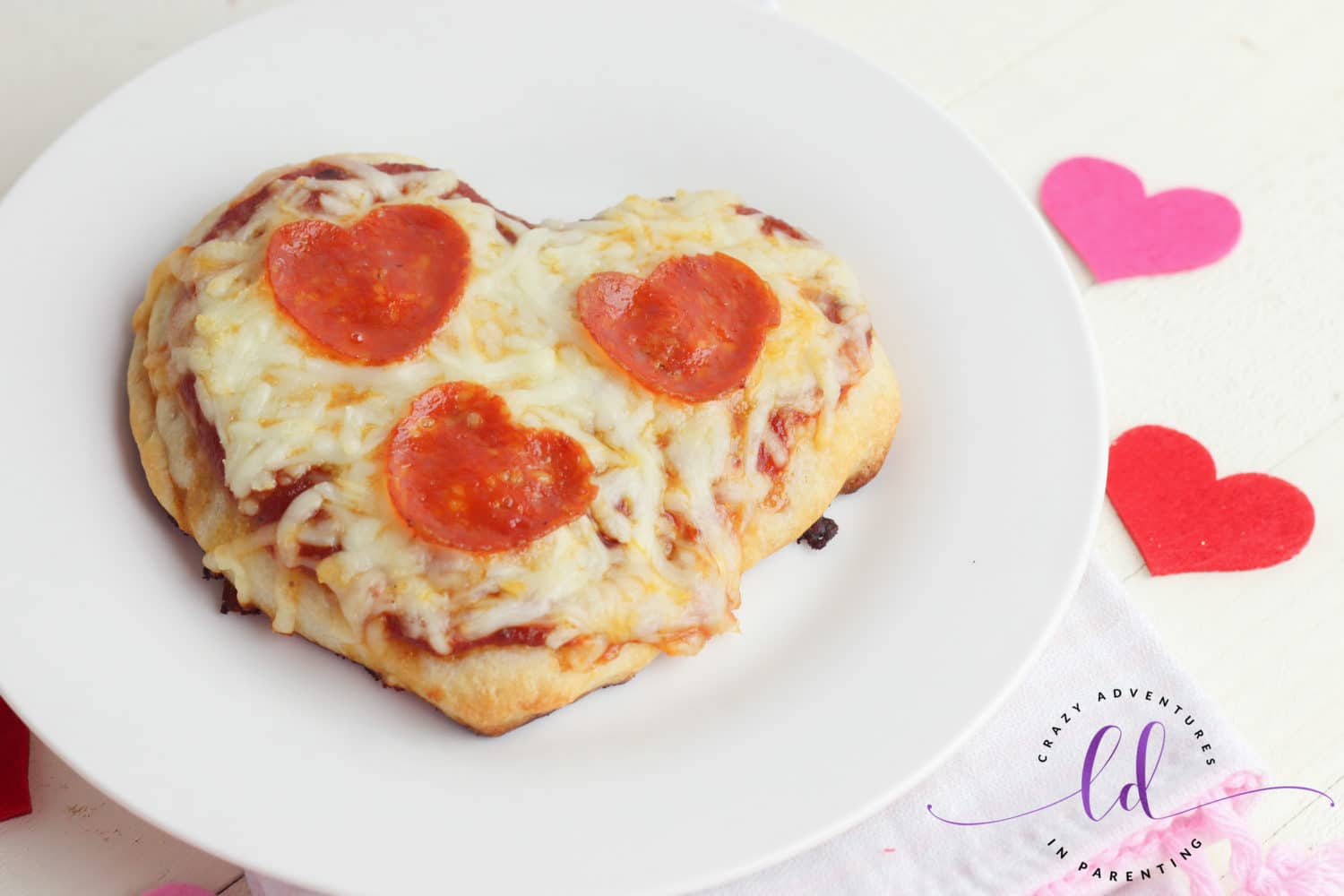 Heart-Shaped Pizza for Valentine's Day Ready to Eat