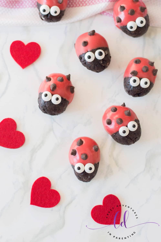 Ladybug Lovebug Oreo Truffles for Valentine's Day