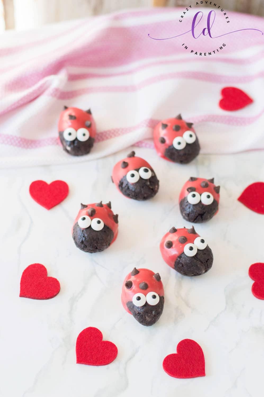 No Bake Ladybug Lovebug Oreo Truffles Recipe