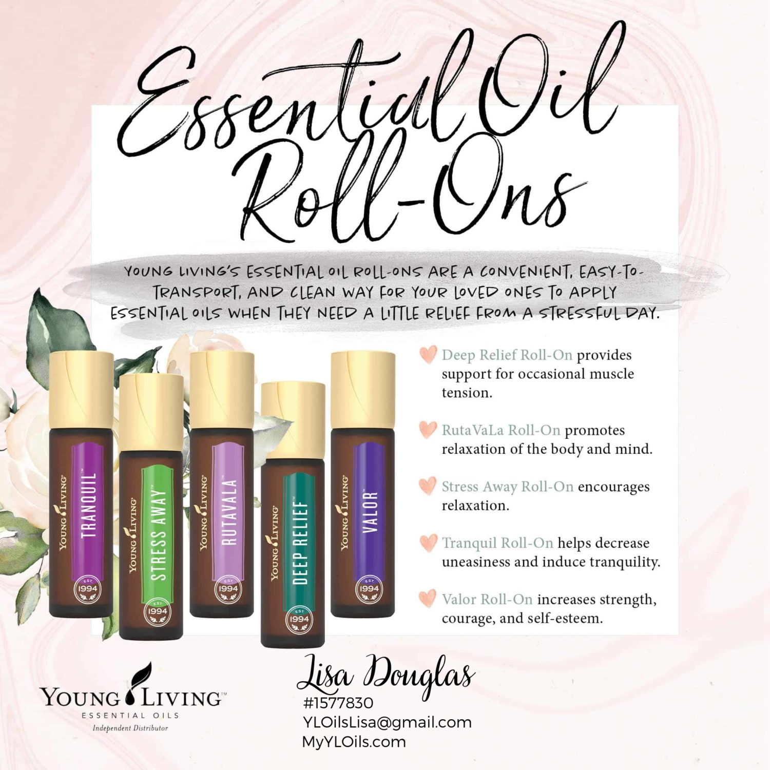 Valentine's Day Essential Oils Gift Guide - Roll-Ons