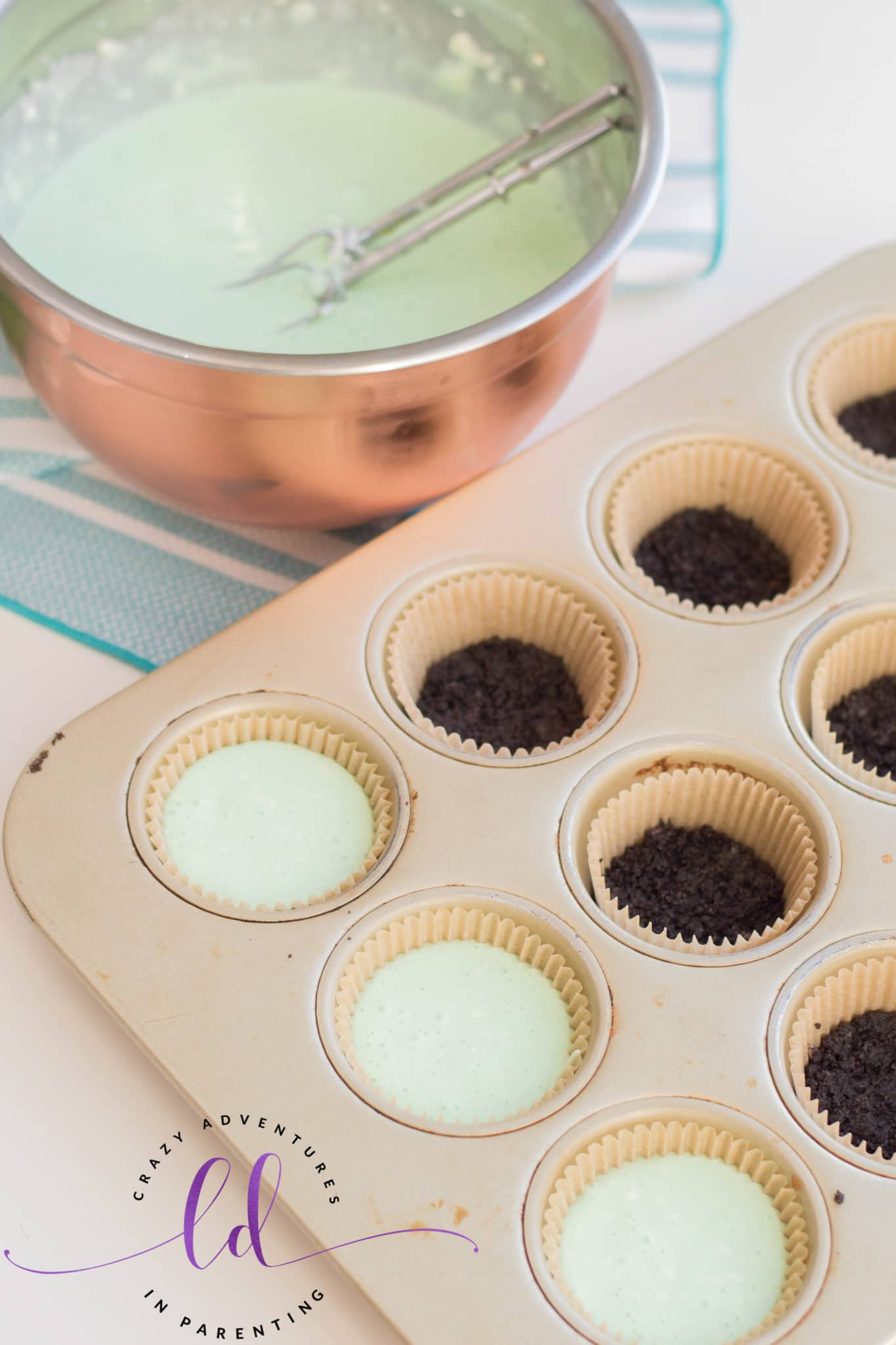 Add Cheesecake Filling to Muffin Pans to Make St. Patrick's Day Mini Cheesecakes