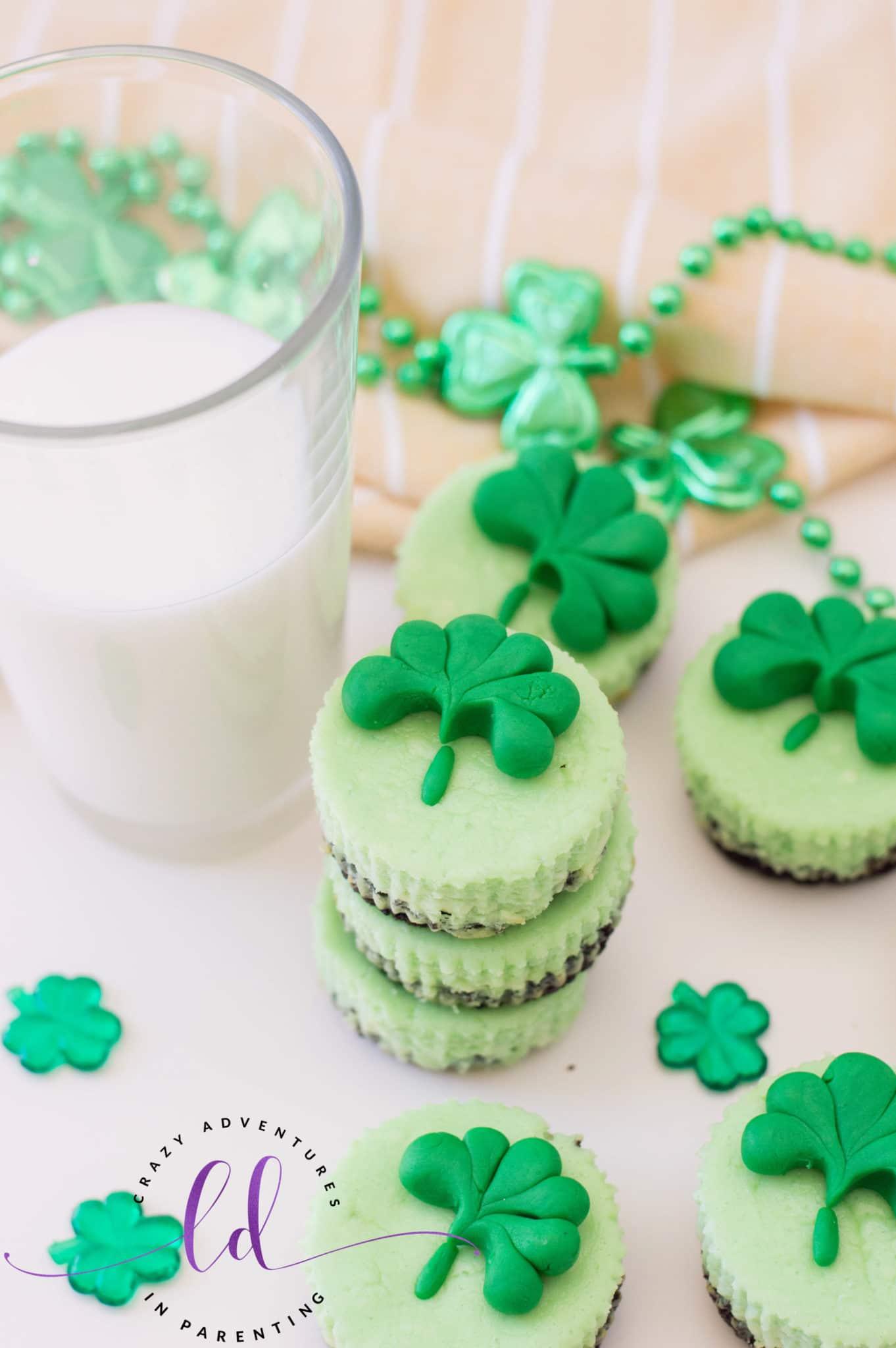 Easy St. Patrick's Day Mini Cheesecake Bites
