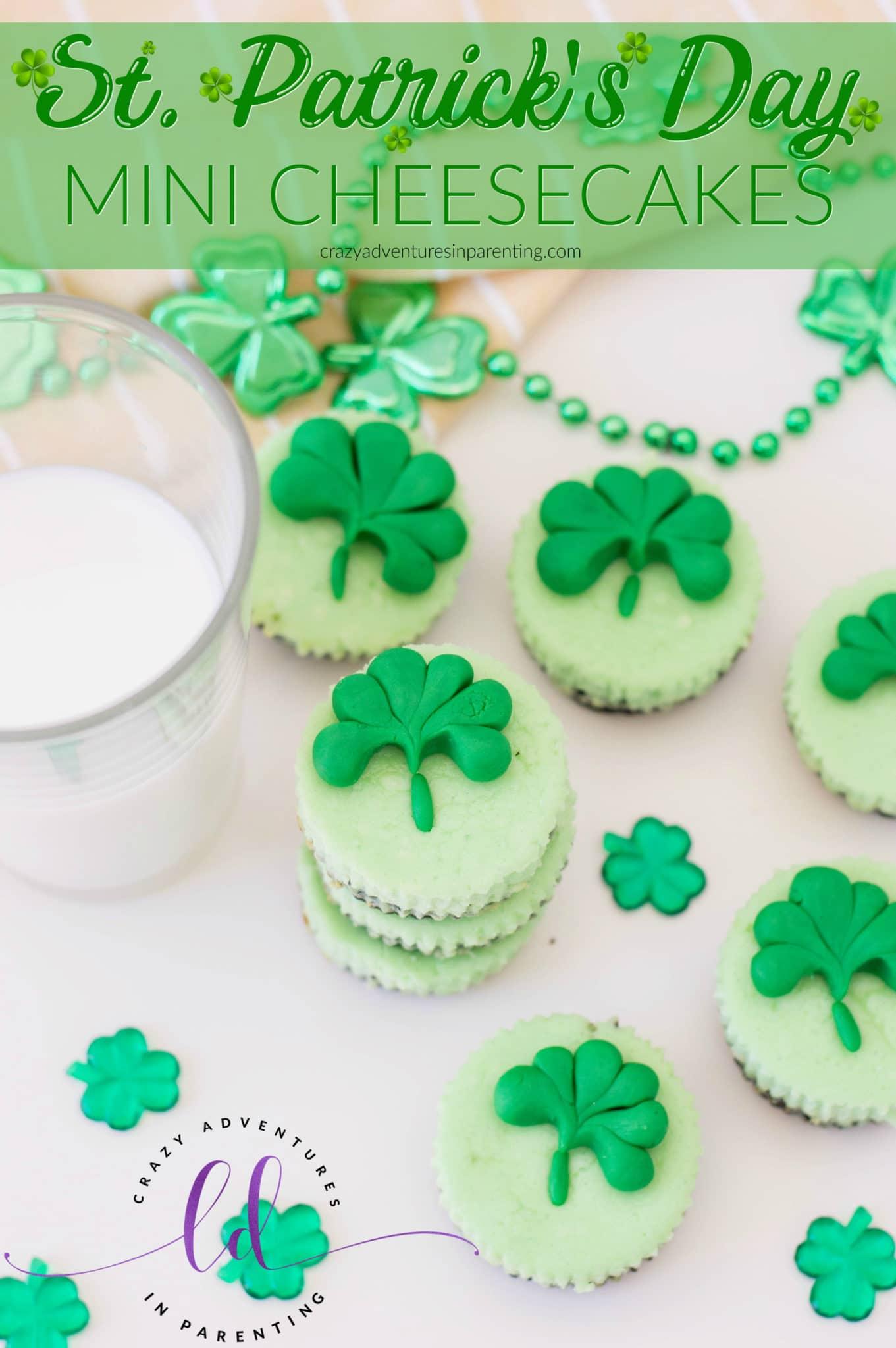 Shamrock St. Patrick's Day Mini Cheesecakes Recipe