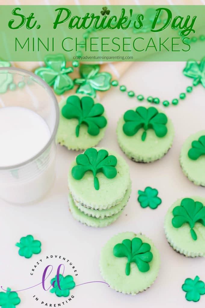 St. Patrick's Day Mini Cheesecakes