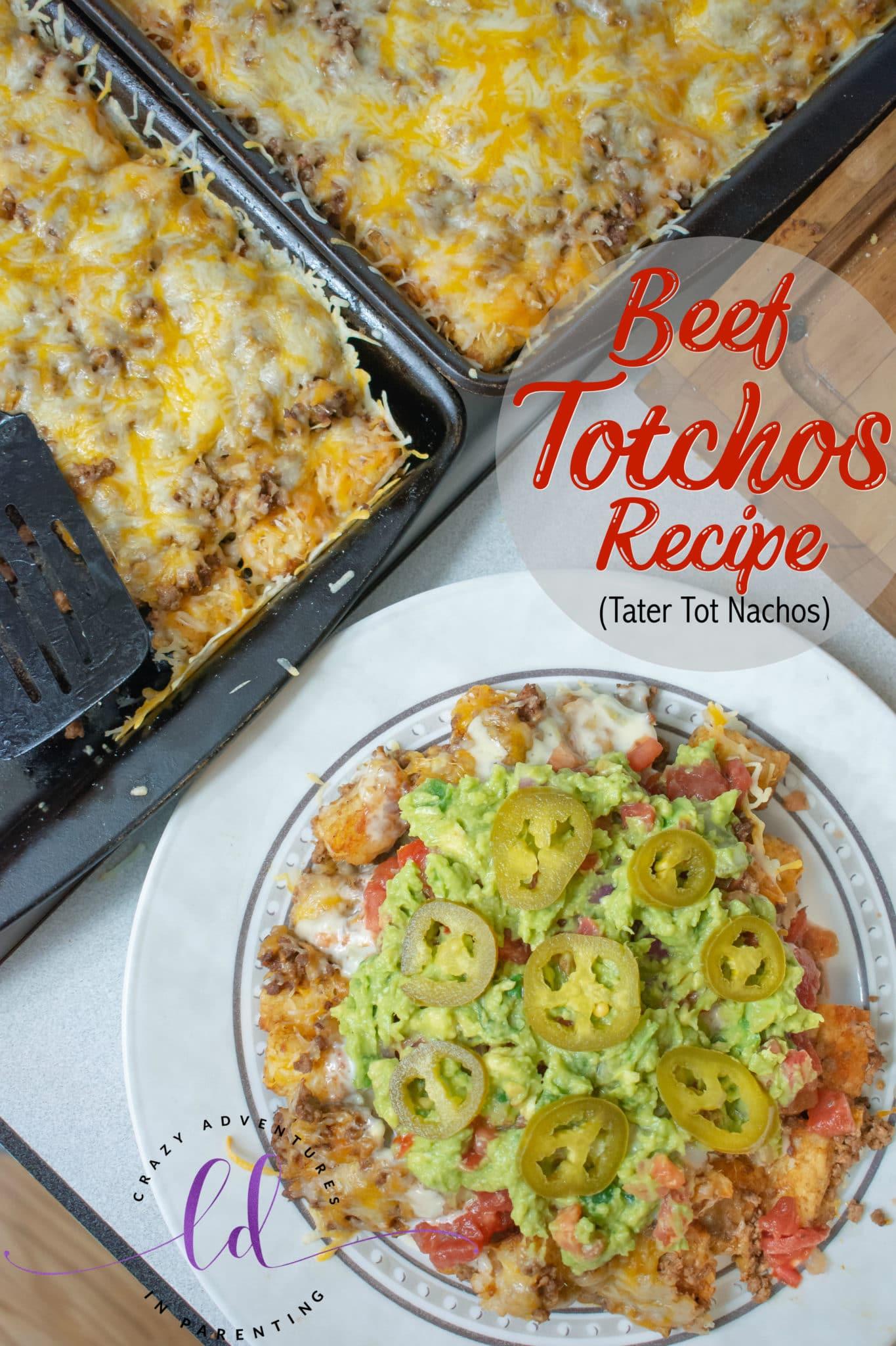 Beef Totchos Recipe - Tater Tot Nachos