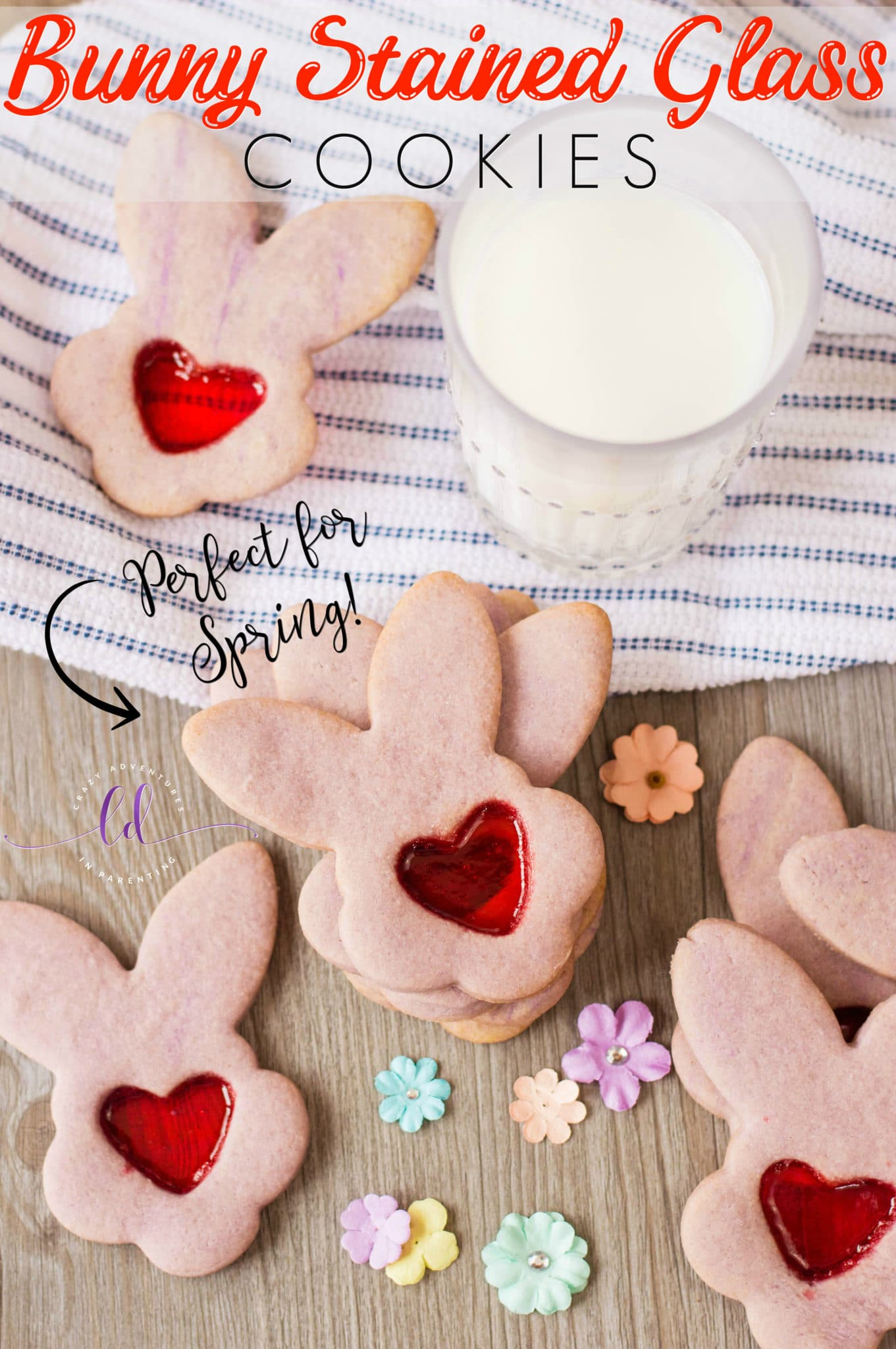Bunny Stained Glass Cookies - Perfect for Spring