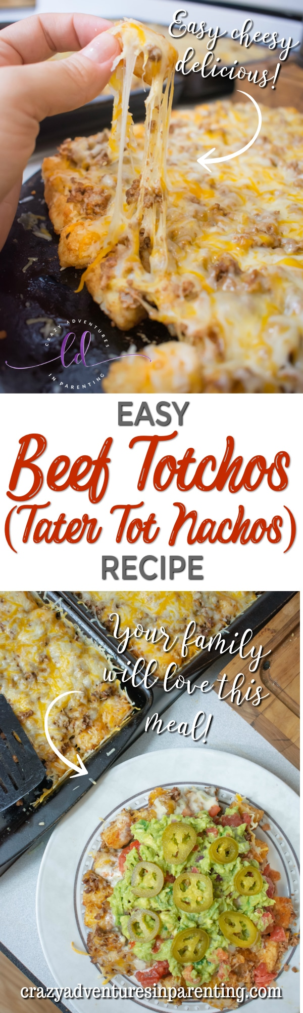 Easy Beef Totchos Tater Tot Nachos Recipe for Dinner
