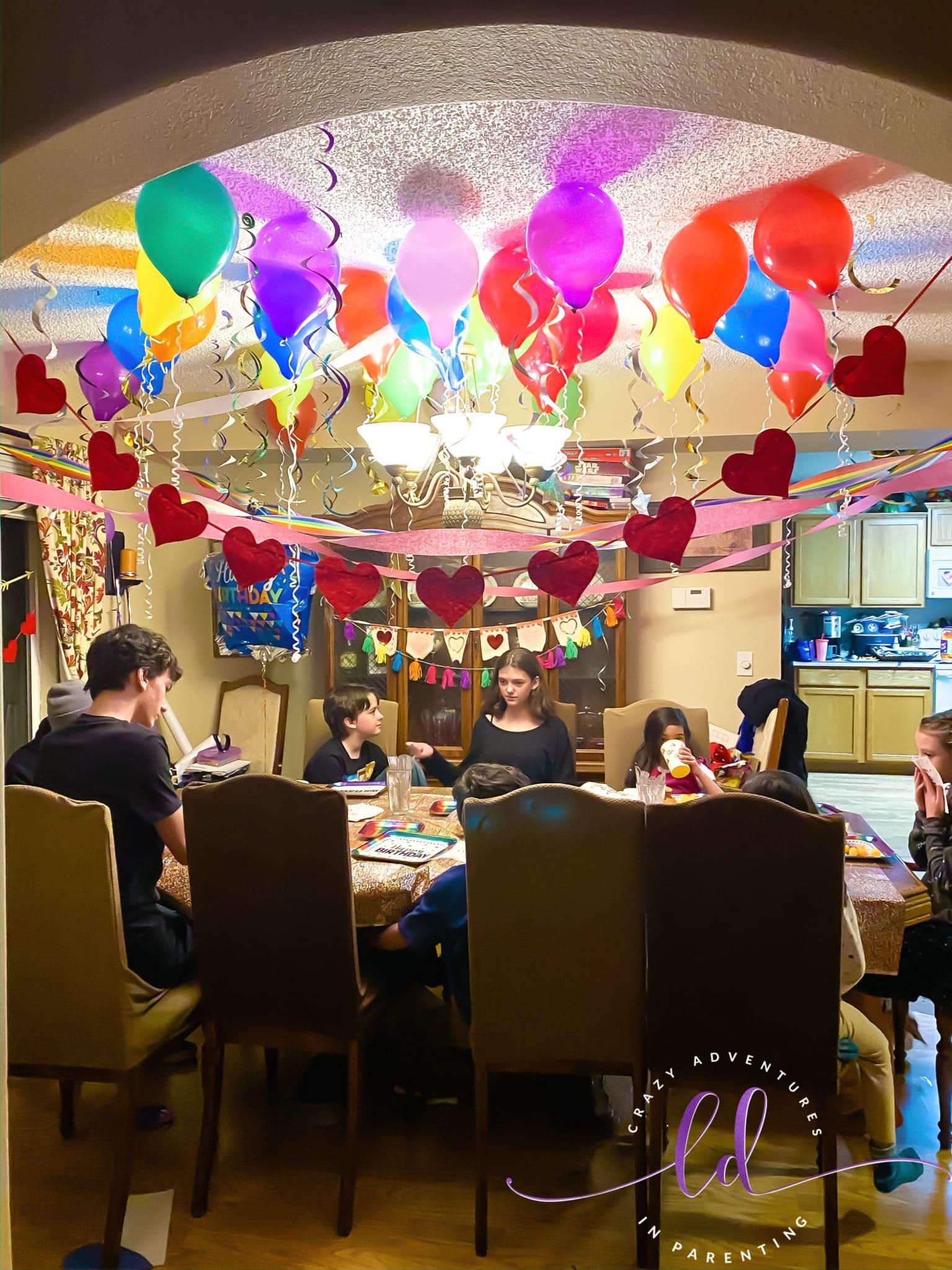 Eating dinner - Leap Day Birthday
