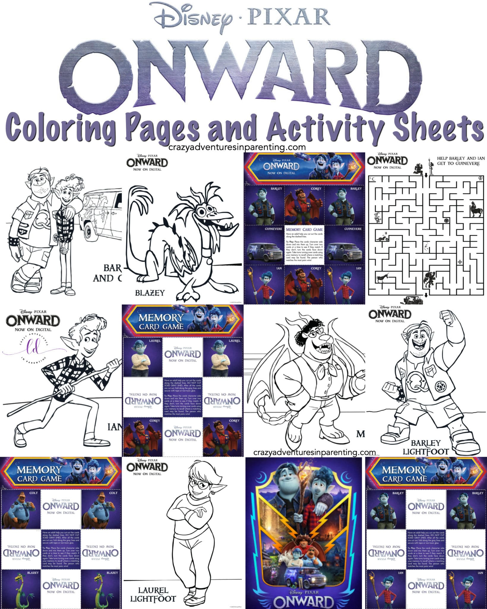 Free Printable Onward Coloring Pages and Activity Sheets