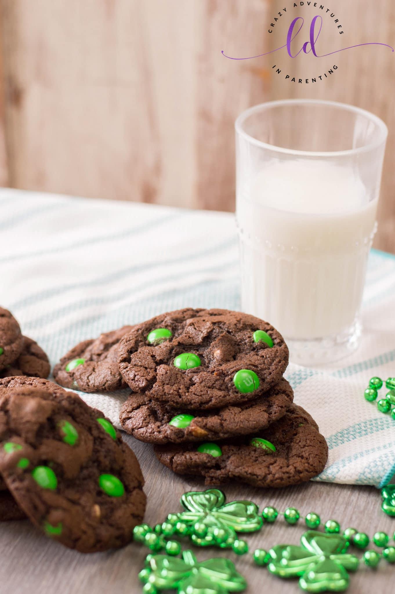 Homemade St Patricks Day Chocolate Cookies