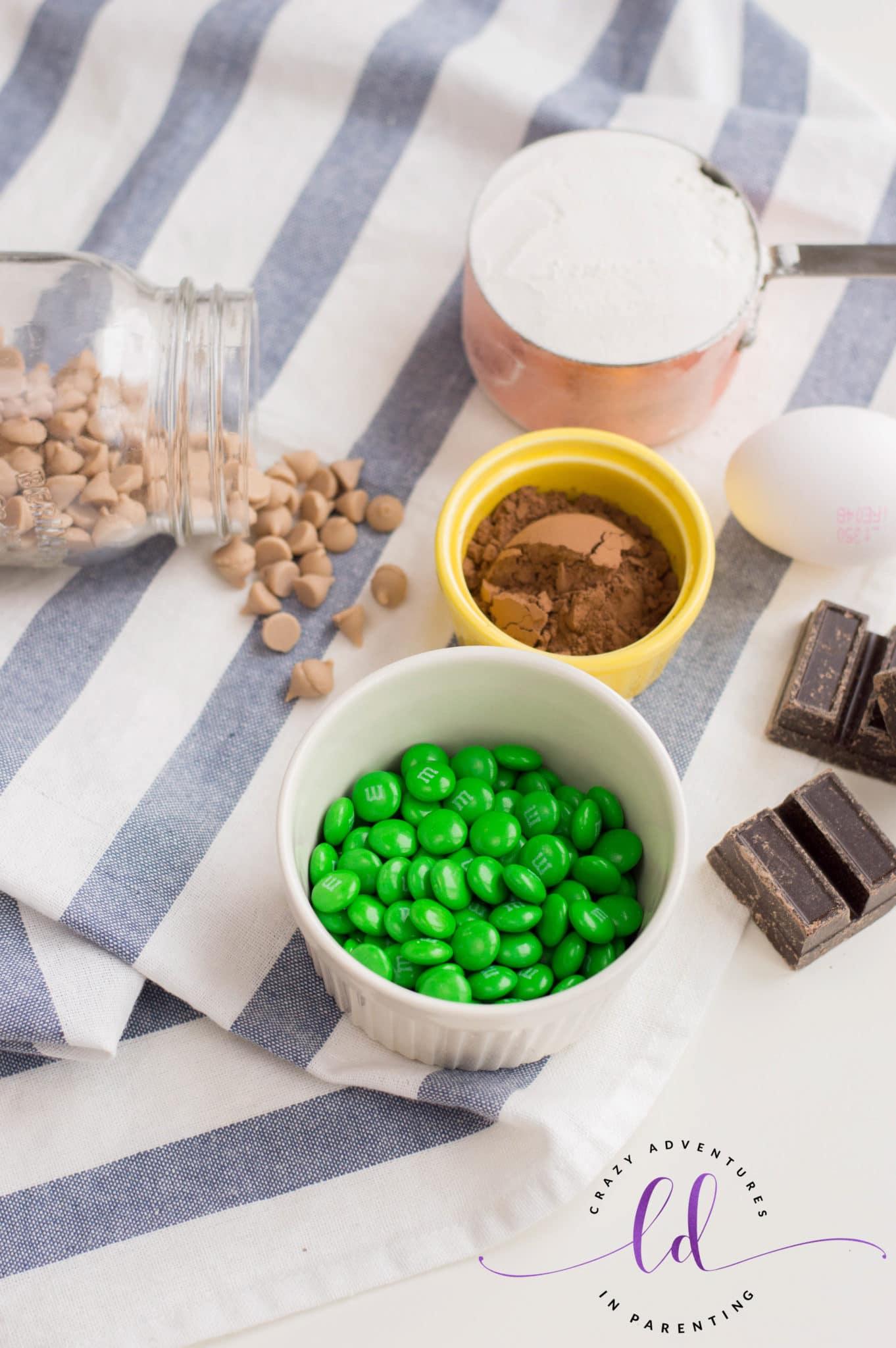 Ingredients Needed to Make St Patricks Day Chocolate Cookies