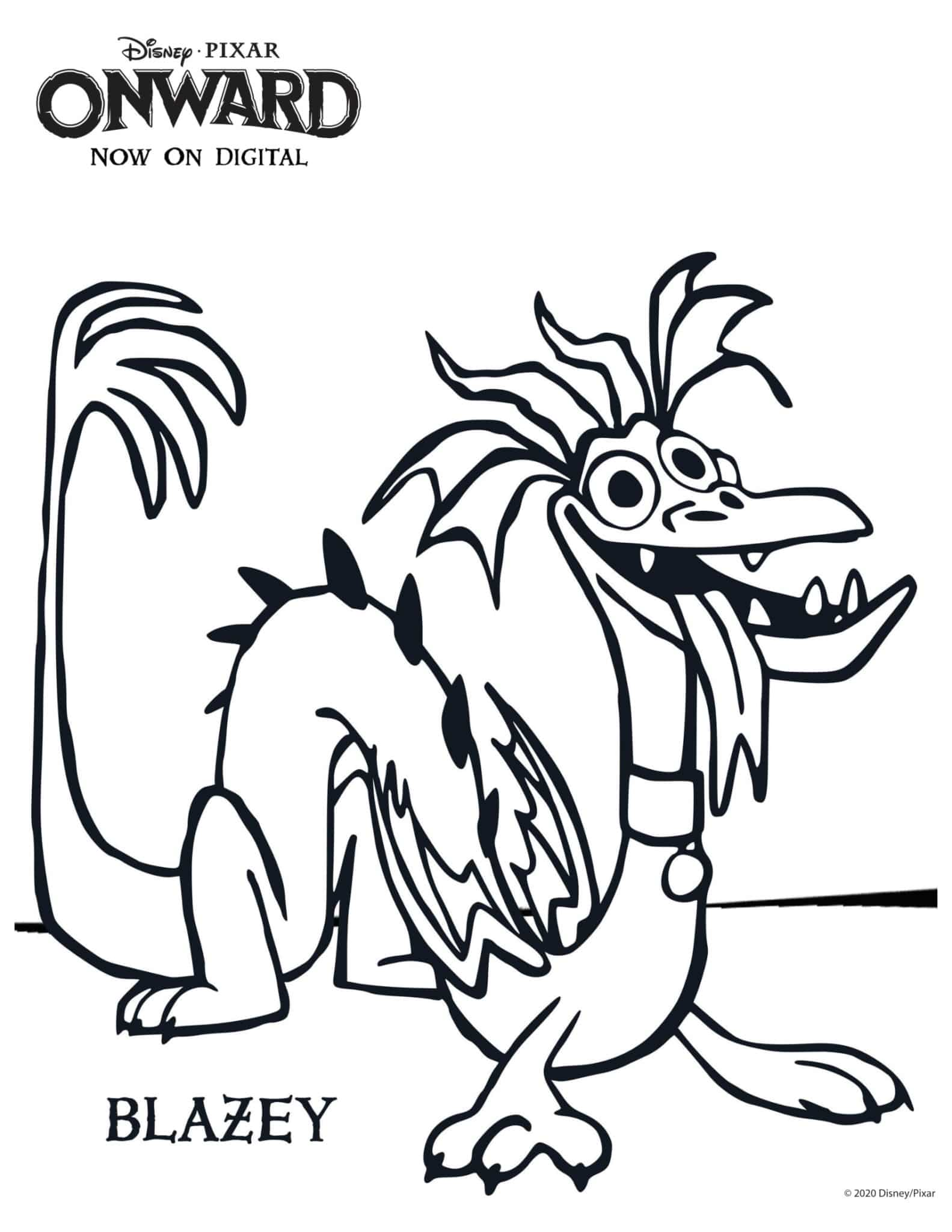 ONWARD Blazey Coloring Page and Activity Sheet