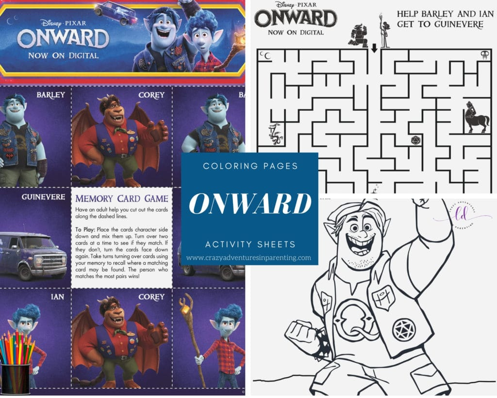 Free ONWARD Coloring Pages and Activity Sheets to Print