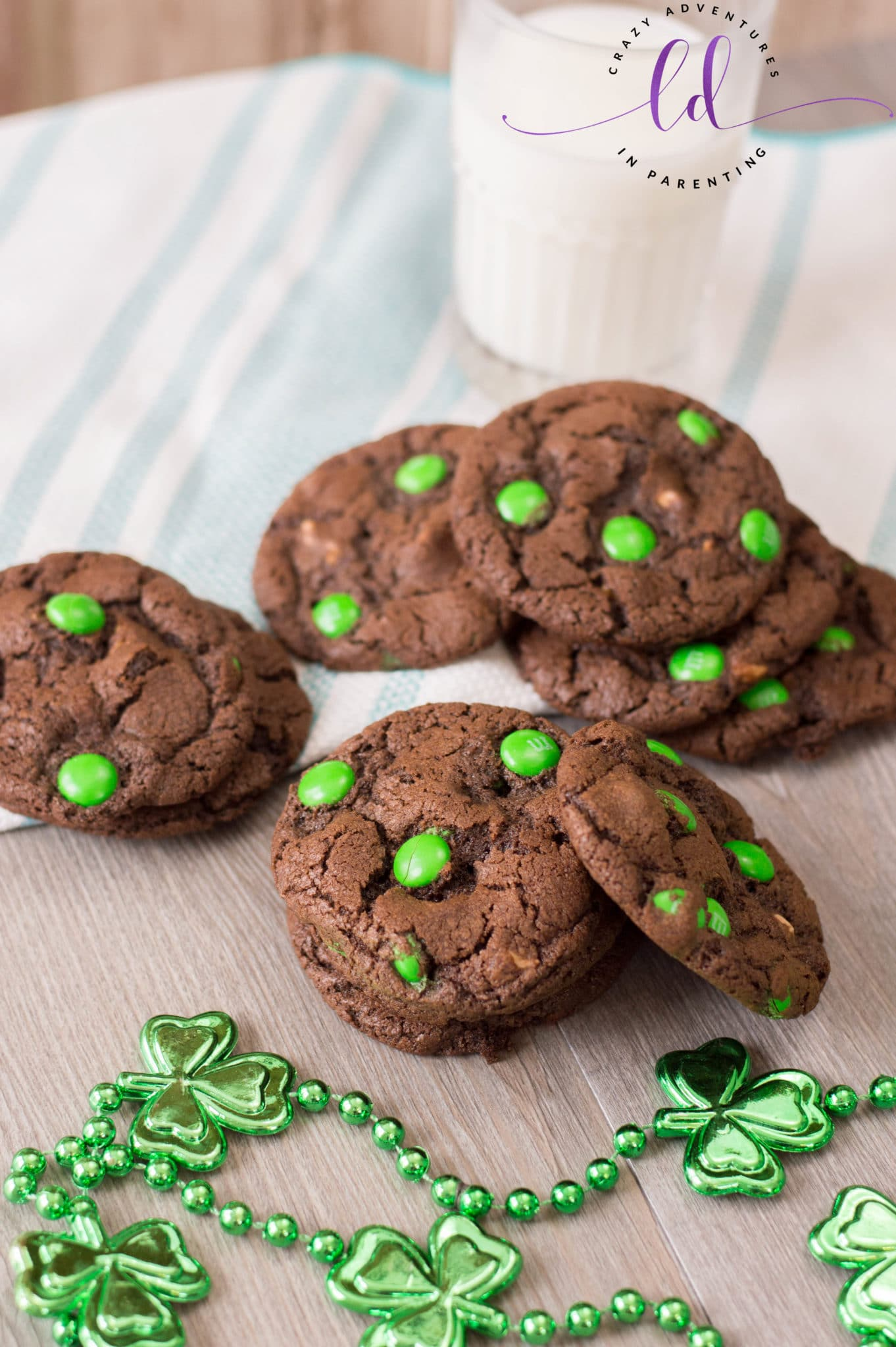St Patricks Day Chocolate Cookies with Caramel
