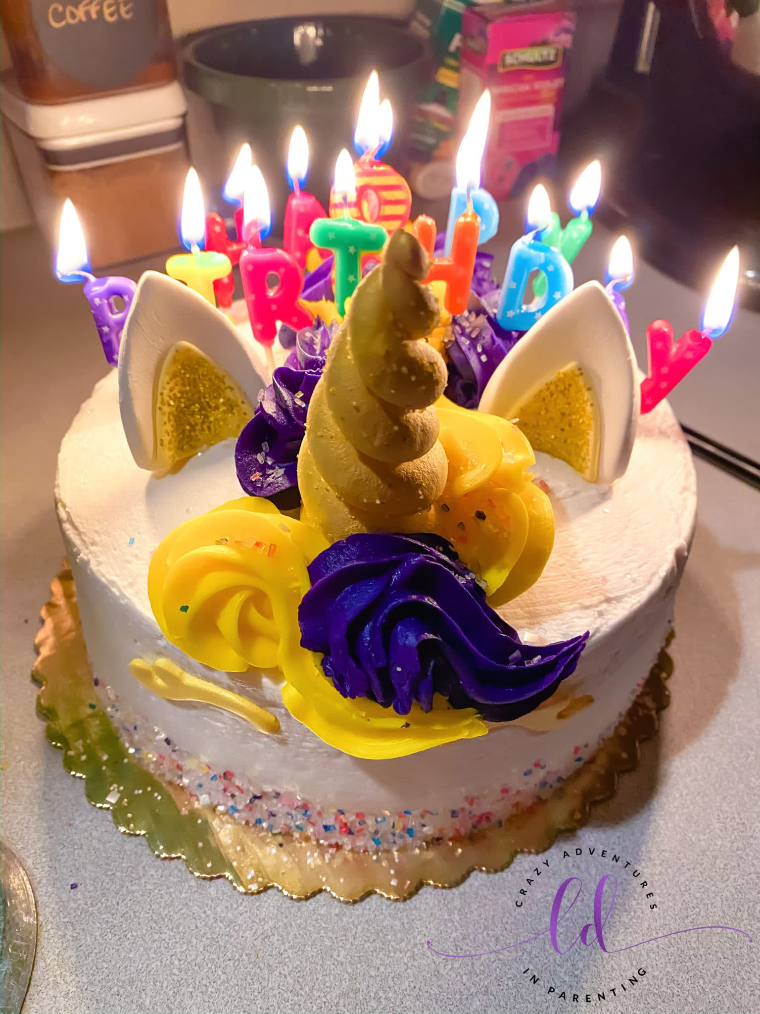 Unicorn Cake for Leap Day Birthday