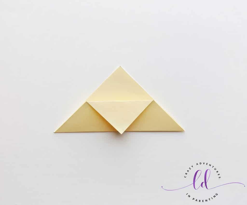Fold Down Corner of Paper to Make Unicorn Corner Bookmark