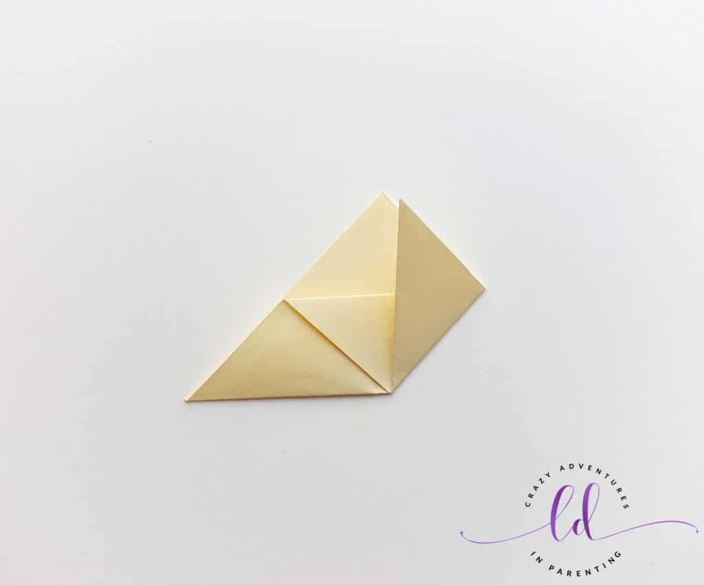 Fold Paper Upwards to Make Unicorn Corner Bookmark