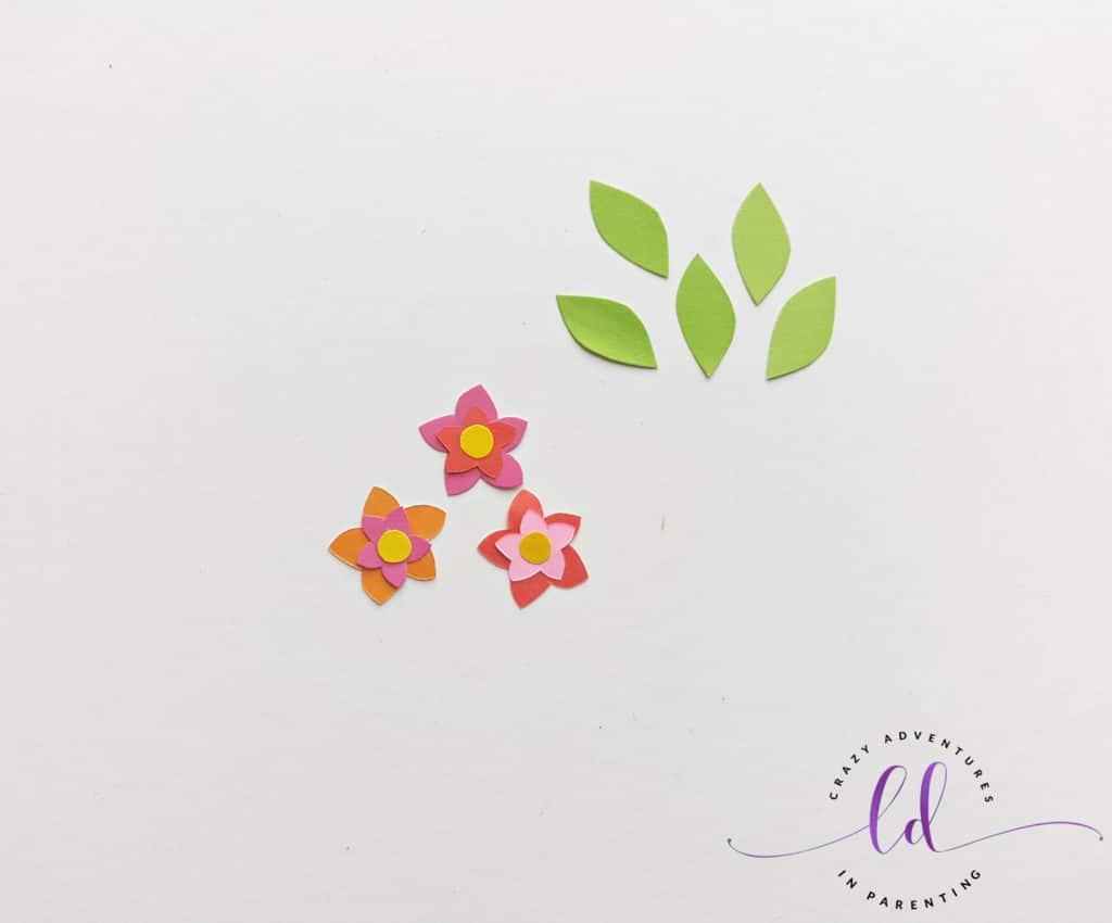 Make Flowers for Unicorn Corner Bookmark