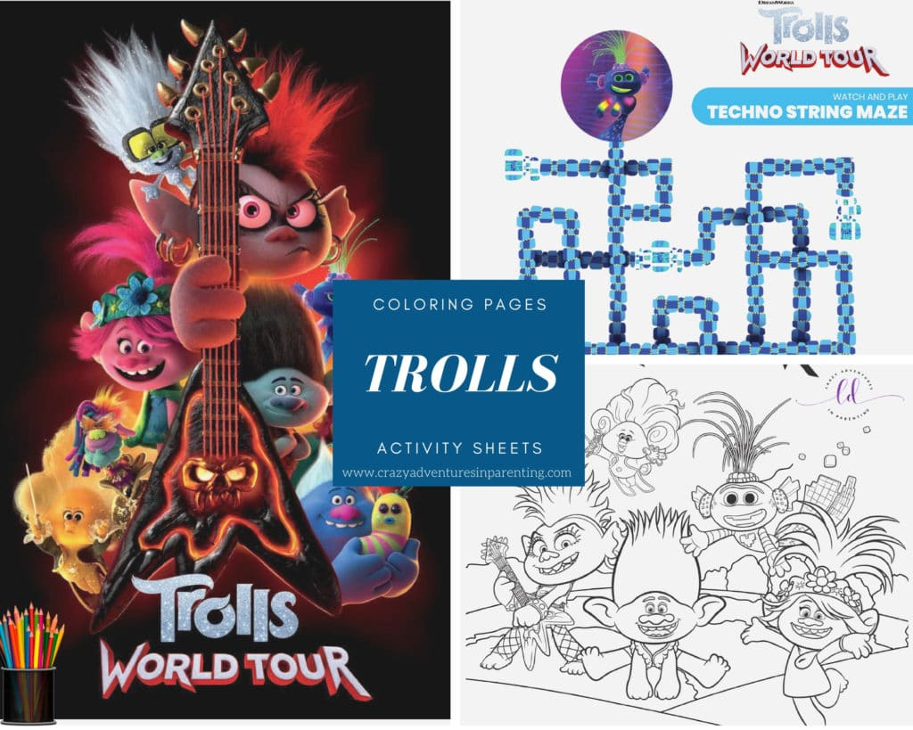 TROLLS WORLD TOUR Coloring Pages and Activity Sheets to Print