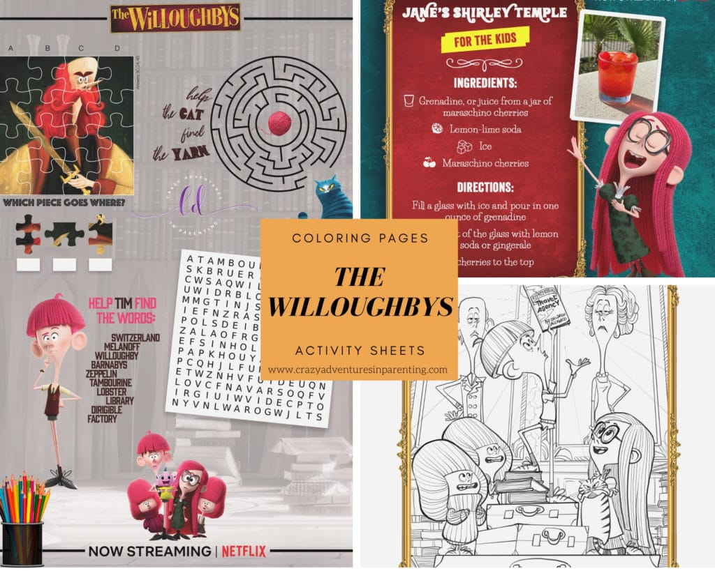 The Willoughbys Coloring Pages and Activity Sheets to Print