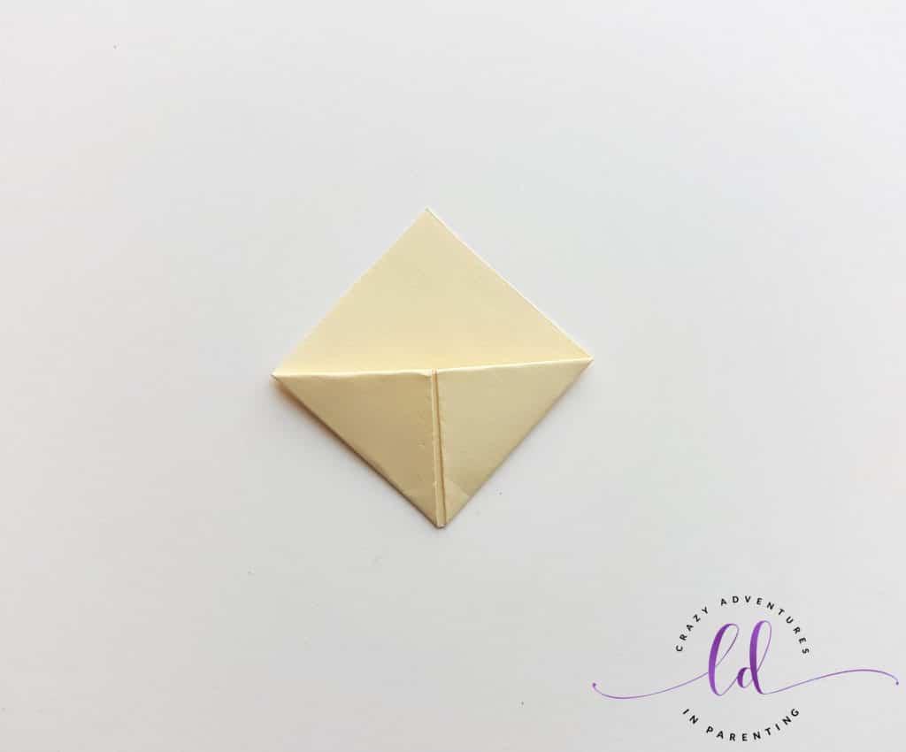Tuck Both Corners to Make Unicorn Corner Bookmark