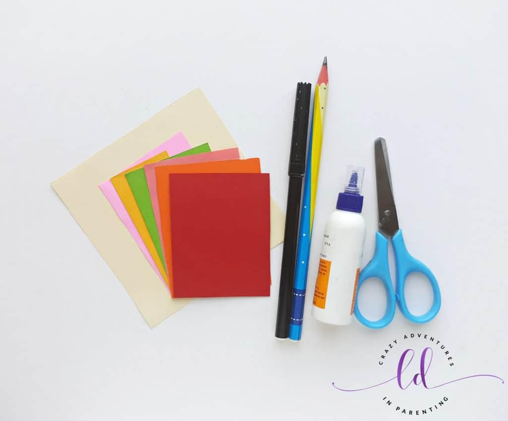 Origami Unicorn Corner Bookmark Supplies Needed