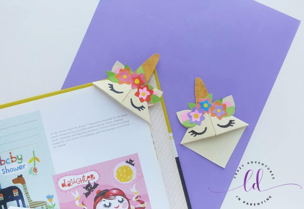 Unicorn Corner Bookmarks for Kids