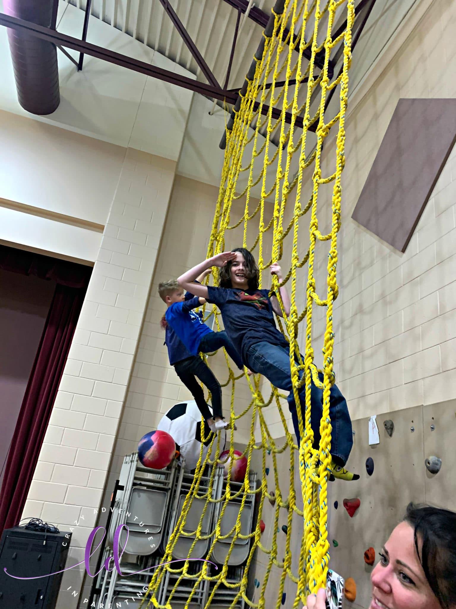 Climbing during gymnastics