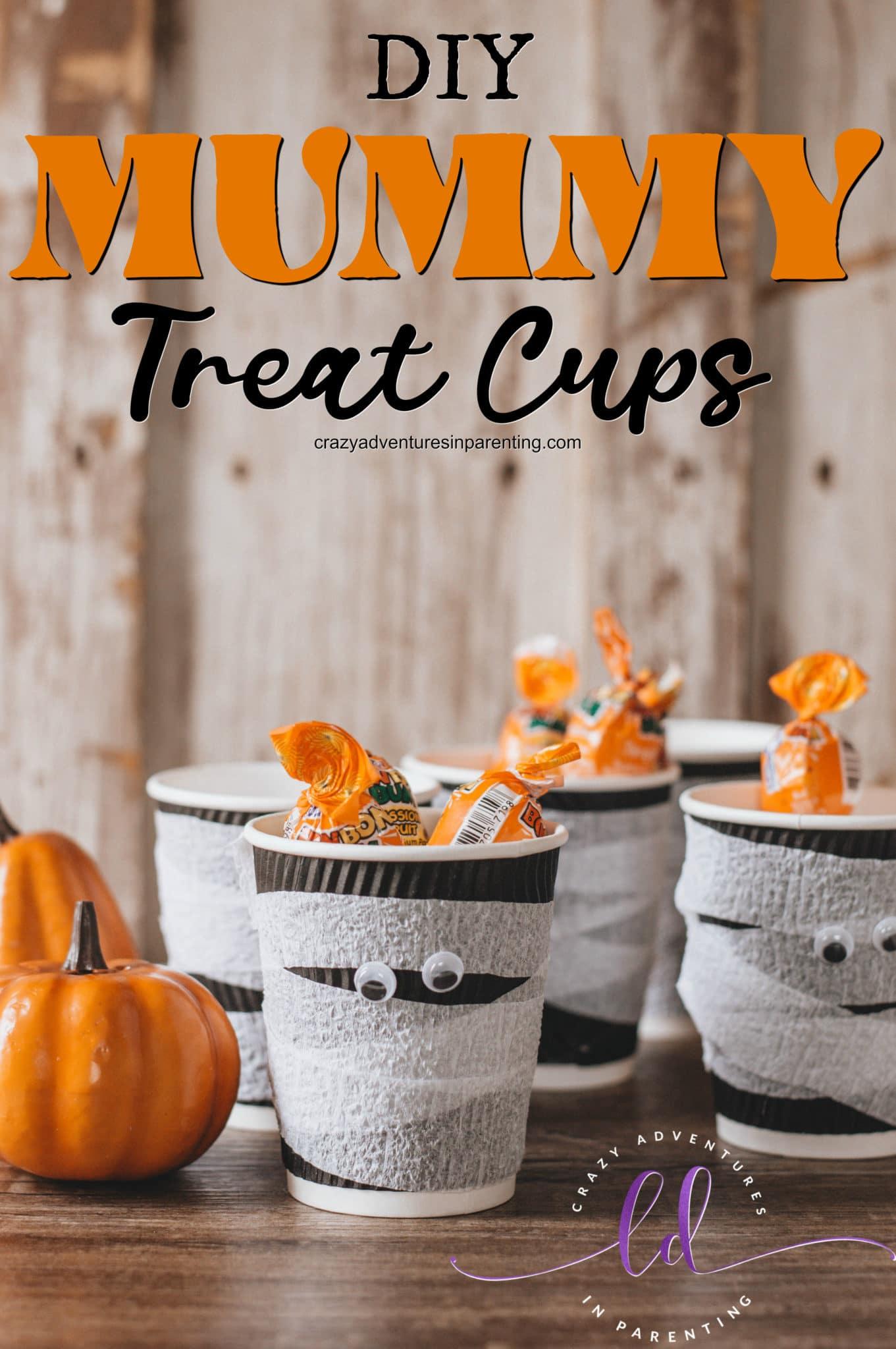 DIY Mummy Treat Cups for Halloween