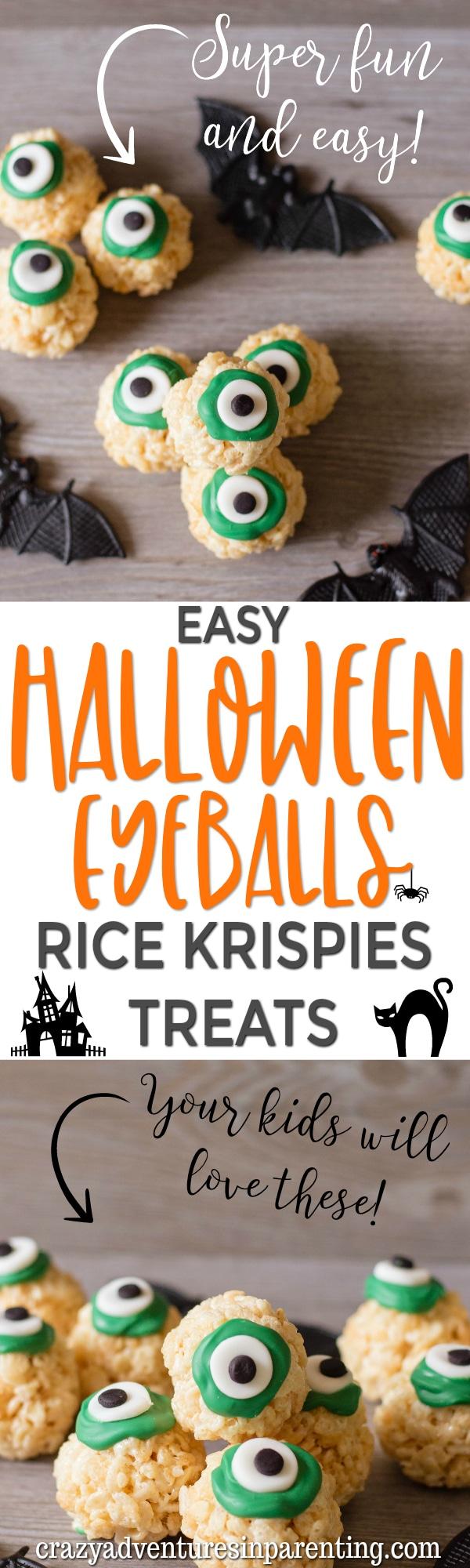 Easy Halloween Eyeballs Rice Krispies Treats Recipe